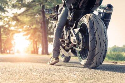 Плакат байкер и мотоциклов готовы ехать