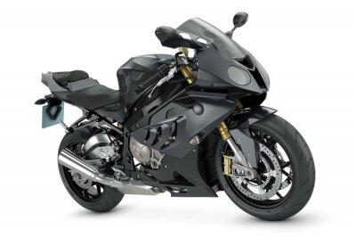Плакат Black sport motorcycle