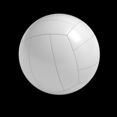 Плакат Бланк Волейбол мяч, изолированных с отсечения путь