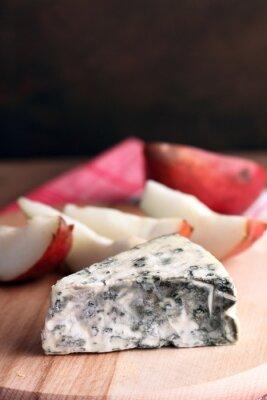 Плакат голубой сыр и груши