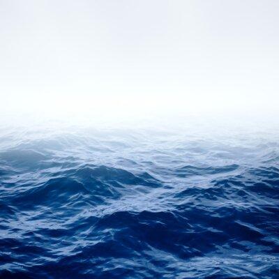 Плакат Blue clear ocean and sky