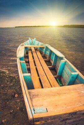 Плакат Лодки на river_3