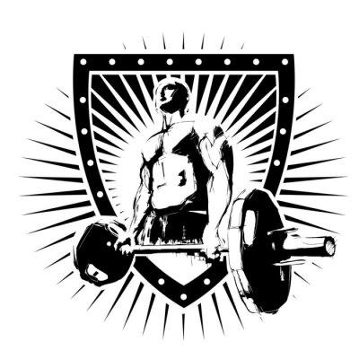 Плакат bodybuilder shield