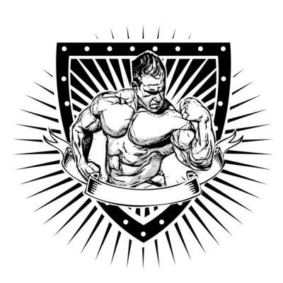 Плакат бодибилдинг щит