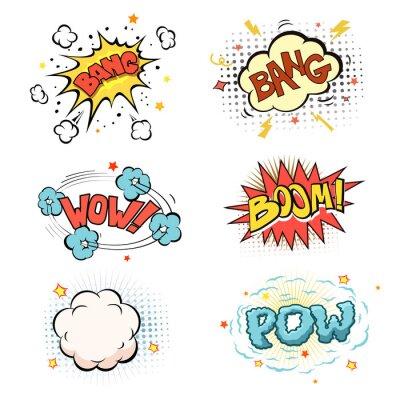 Плакат Бум. Набор комиксов взрыв