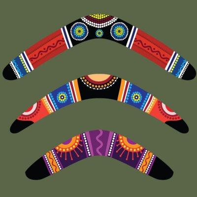 Плакат Бумеранги с аборигенной конструкции