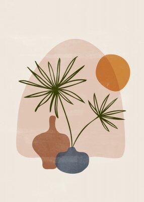 Плакат Botanical vintage print boho sun minimalist wall art