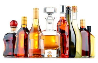 Плакат Бутылки ассорти алкогольных напитков