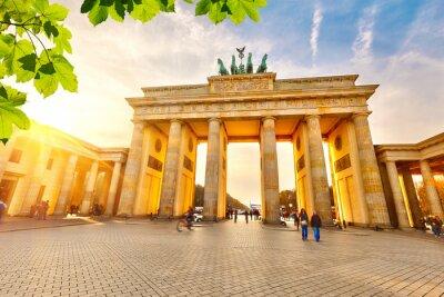 Плакат Brandenburg gate at sunset
