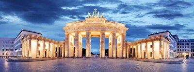 Плакат Бранденбургские ворота, Берлин, Германия - панорама