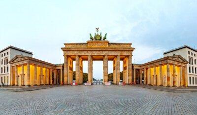 Плакат Бранденбургские ворота панорама в Берлине, Германия