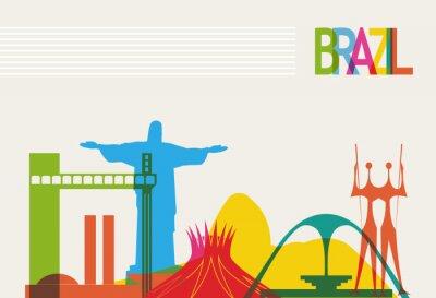 Плакат Бразилия туризм горизонты