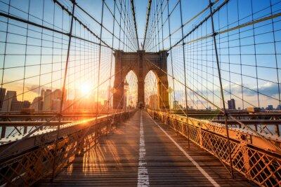Плакат Бруклинский мост в Нью-Йорке