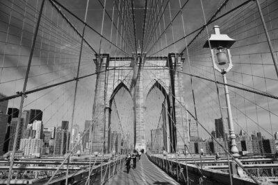 Плакат Бруклинский мост, Нью-Йорк