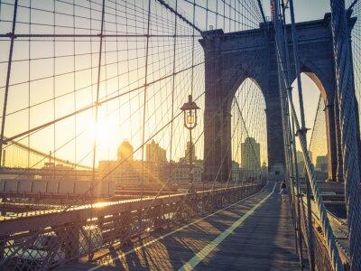 Плакат Бруклинский мост Нью-Йорк