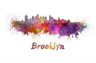 Плакат Бруклин горизонты в акварели