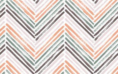 Плакат Brush stroke chevron zig zag seamless pattern.