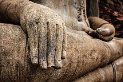 Плакат Статуя Будды рука закрыть подробно