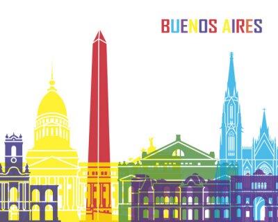 Плакат Буэнос-Айрес горизонт поп