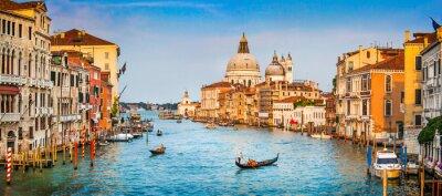 Плакат Canal Grande панорама на закате, Венеция, Италия