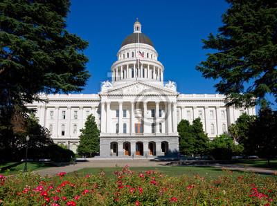 Плакат Здание Капитолия в Сакраменто Калифорнии