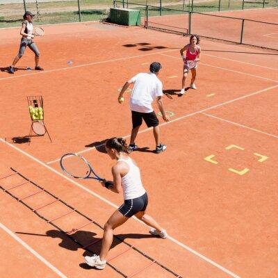 Плакат Кардио теннис обучение