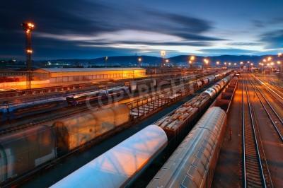Плакат Грузовой транспортные с поездов и железных дорог