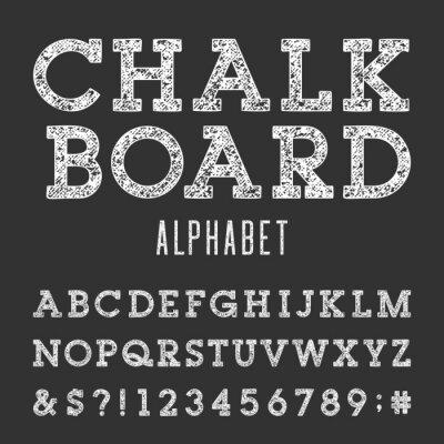 Плакат Классная Алфавит векторных шрифтов