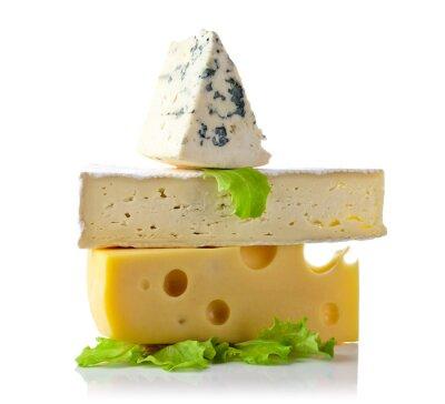 Плакат сыр, изолированных на белом