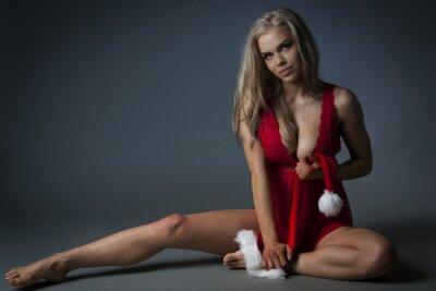 Плакат Рождество девушка