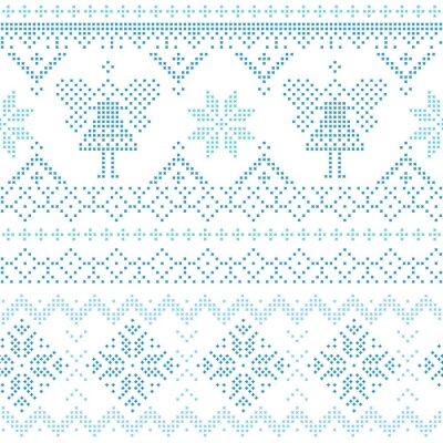 Плакат Рождественский скандинавский Card - за приглашение, обои