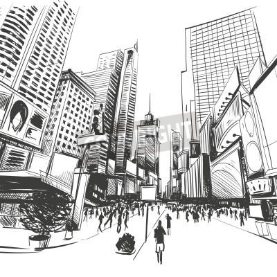 Плакат Город рисованной, векторные иллюстрации