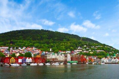 Плакат город Берген, Норвегия
