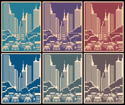 Плакат городских улиц