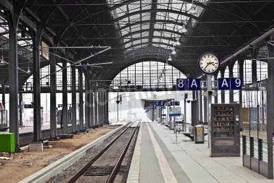 Плакат classicistical железнодорожный вокзал в Висбадене, Германия