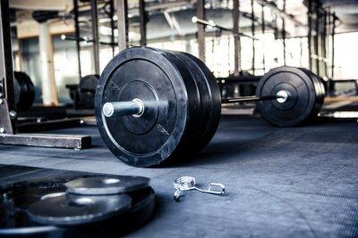 Плакат Крупным планом образ фитнес-оборудования