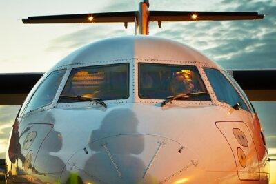 Плакат Cockpit of the airplane