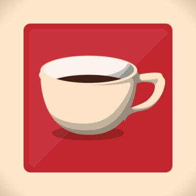Плакат значок дизайн Coffe