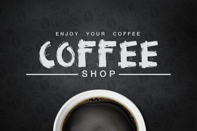 Плакат кофе backgrond