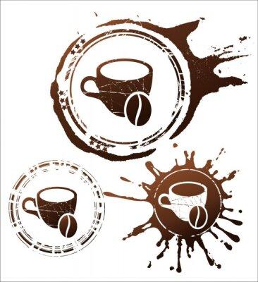 Плакат элементы дизайна кофе. векторные иллюстрации