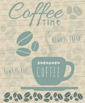 Плакат Кофе Иконка