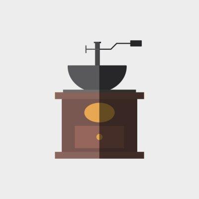 Плакат дизайн кофе значок