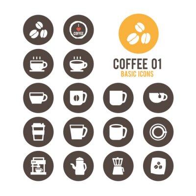 Плакат Кофе набор иконок. Векторная иллюстрация.