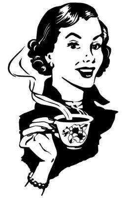 Плакат Кофе леди