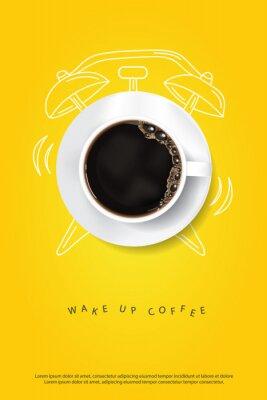 Плакат Coffee Poster Advertisement Flayers Vector Illustration