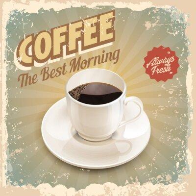 Плакат кофе ретро