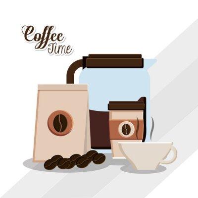 Плакат дизайн кофе время