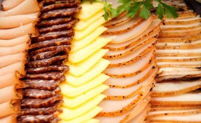 Плакат Холодное мясо с сыром