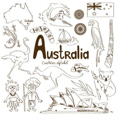Плакат Коллекция Австралии икон