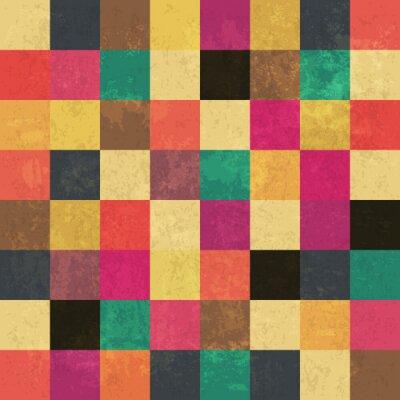 Плакат Красочные возрасте квадратов. Бесшовные. Гранж слои могут быть еа